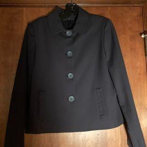 Elie Tahari Bonnie Navy Wool Blend Jacket